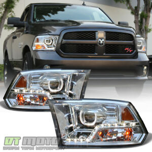 mono eye 2009 2018 Dodge Ram 1500 2500 3500 Led Drl Halo Projector Headlights