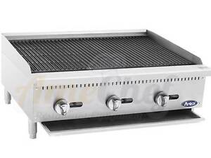 New 36 Lava Rock Char Broiler Commercial Restaurant Duty Gas Atcb 36 Atosa