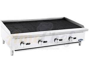 New 48 Lava Rock Char Broiler Commercial Restaurant Duty Gas Atcb 48 Atosa