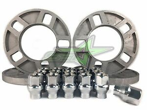 4 Ford Mustang Wheel Spacers 1 2 Inch 1 2 20 Chrome Extended Thread Lug Nuts