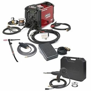 Lincoln Power Mig 210 Mp Welder W Tig Kit Spoolgun k4195 2 K3269 1