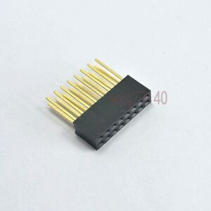 10pcs 2 54mm 2x8 16 Pin Double Row Female Stackable Straight Header Socket Strip
