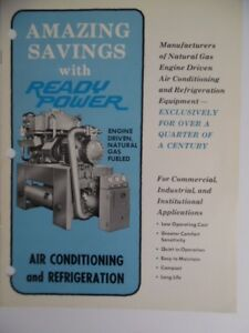 C 1967 Ready Power Engine Driven Air Conditioning Refrigeration Equip Brochure
