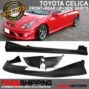 Fits 00 02 Toyota Celica Jdm Front Rear Lip Side Skirt Bodykit Urethane