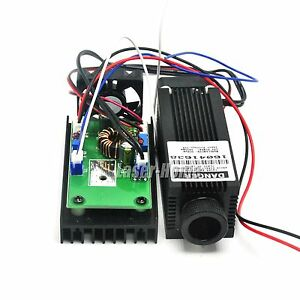 Adjusted 808nm 2400mw 2 4w 12v Ir Infrared Laser Dot Diode Module W Ttl Driver