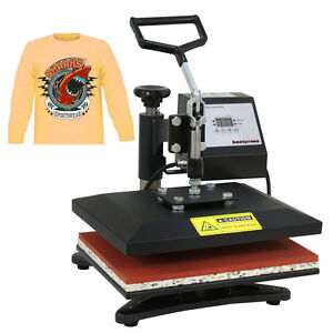 12 x10 Diy Digital Heat Press Machine For T shirts Htv Transfer Sublimation Us