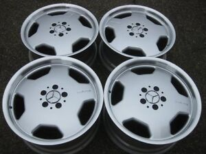 Rare Genuine Mercedes Amg Monoblock 18 Staggered Rims In Showroom Condition