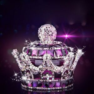 Purple Crystal Crown Car Seat Bottle Perfume Air Freshener Car Perfume Diffuser