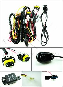 H11 H8 896 881 Fog Light Harness W Universal Switch Relay Wire Connectors