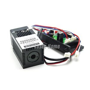 450nm 50mw 12v Blue Focus Dot Laser Diode Module W Driver Ttl Fan Cooling