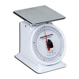 Detecto Mechanical Dial Type Portion Scale Stainless Steel Finish 5lbs