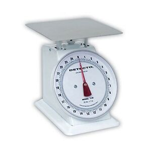 Detecto Top Loading Large Dial Scale Stainless Steel Finish