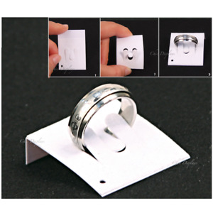 100pc Ring Card Ring Display Cards Ring Display Holders White Ring Display Stand