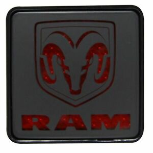 Bully Cr 007d Trailer Hitch Cover Dodge Ram Logo Brake Light For 2 Receiver
