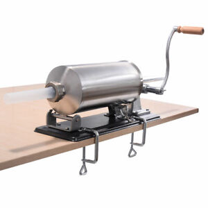 4 8l Sausage Stuffer Maker Meat Filler Machine Stainless Steel Commercial