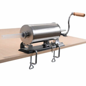 3 6l Sausage Stuffer Maker Meat Filler Machine Stainless Steel Commercial