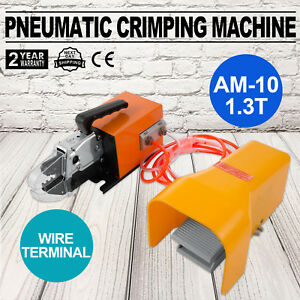 Pneumatic Wire Terminal Mobile Crimping Machine Crimper Air Powered Terminals