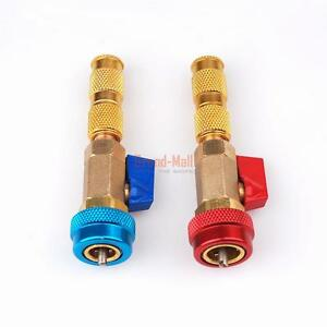 R134a Valve Core Quick Remover Installer High Low Pressure Tool Air Conditioner