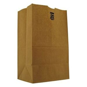 Baggh20s 20 Squat Paper Bag Heavy duty Brown Kraft 8 1 4x5 15 16x14 3 8 50