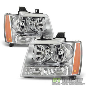 2007 2014 Chevy Suburban 1500 Avalanche Tahoe Headlights Headlamps Left right