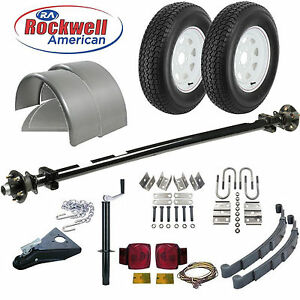 Utility Trailer Parts Kit 3 500lb Rockwell American Idler Trailer Axle