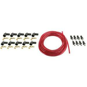 7mm Spark Plug Wires Solid Core Red Straight Rajah Ends