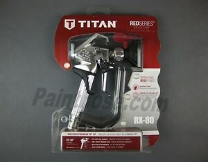 Titan 0538006 Rx 80 Airless Spray Gun Red Series Oem