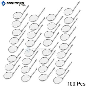 100 Pcs Dental Mouth Mirror 5 Plain Dental Instruments