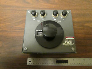 Leeds Northrup Volt Box Cat 7592 750 Ohms volt Vintage Test Equipment