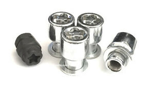 4 12x1 5 Mag Wheel Locks With 1 Puzzle Key Anti Theft Security Lug Nuts