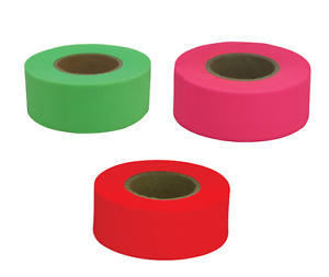 150 Ch Hanson Pvc Flagging Tape Marking Ribbon High Visibility pick Color New