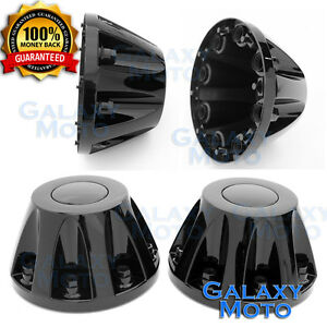 11 16 Gmc Sierra Dually Model Black 17 2x Rear Set Wheel Center Hub Cap Cover