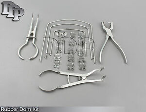 Rubber Dam Kit Of 21 Pcs Clamps Of Your Choice Dental Orthodontic Instruments