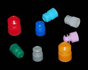 Glass Test Tube Stopper Plastic Test Tube Cap Tube Plug Cap Closure Leakproof