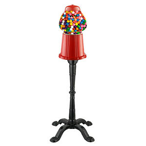 Vintage Candy Gumball Machine W Stand Dispenser Vending Bubblegum Bank Antique