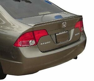Un Painted Grey Primer Finish Fits Honda Civic 4dr Sedan 2006 2010 Lip Spoiler