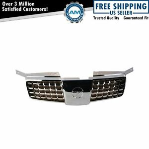 Grille Grill Front Chrome Gray For 04 06 Nissan Maxima