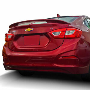 Pre painted For 2017 Chevy Cruze Sedan 2 post Abs Rear Spoiler Any Color