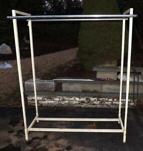 Commercial Grade Heavy Duty Clothing Rack Double Bar Adjustable Height