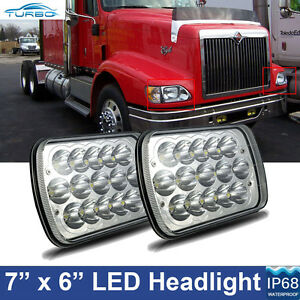 2x Led Headlights Cree Headlamp For International 5900i 7300 7400 9200 9400 9900