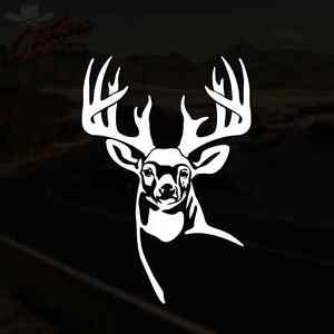 Whitetail Deer Decal Buck Hunting Truck Window Vinyl Sticker Pick Size
