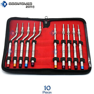Sinus Lift Osteotomes Kit Straight Off Set Concave Dental Implant Dn 433