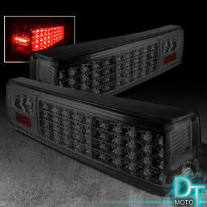 Smoked 1987 1993 Ford Mustang Full Led Tail Lights Lamps Aftermarket Left Right
