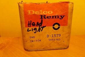 Nos Delco Remy Headlight Switch D 1579 1995165
