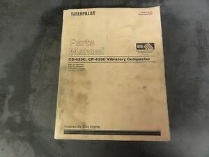 Caterpillar Cat Cs 433c Cp 433c Vibratory Compactor Parts Manual 2jm 3tm