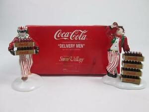 DEPT. 56 COCA COLA #5480-1 DELIVERY MEN CERAMIC COKE SNOW VILLAGE SODA DRINK NIB