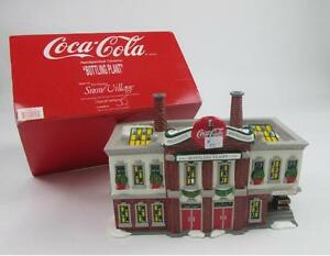 DEPT. 56 COCA COLA #5469-0 BOTTLING PLANT CERAMIC COKE SNOW VILLAGE SODA NIB