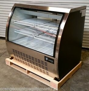 New 47 Curved Glass Bakery Deli Case Refrigerated Saba Scgg 47 4492 b Nsf Led