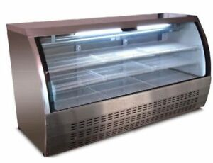 New 82 Curved Glass Deli Display Case Saba Scgg 82 4493 Etl Nsf Commercial Nsf