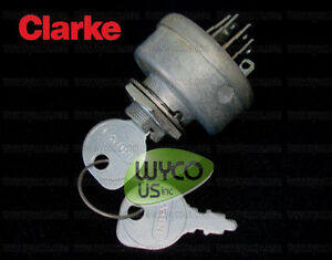 Ignition Switch With Keys 6 Prongs Clarke Pbu Propane Burnishers 98703b 21i